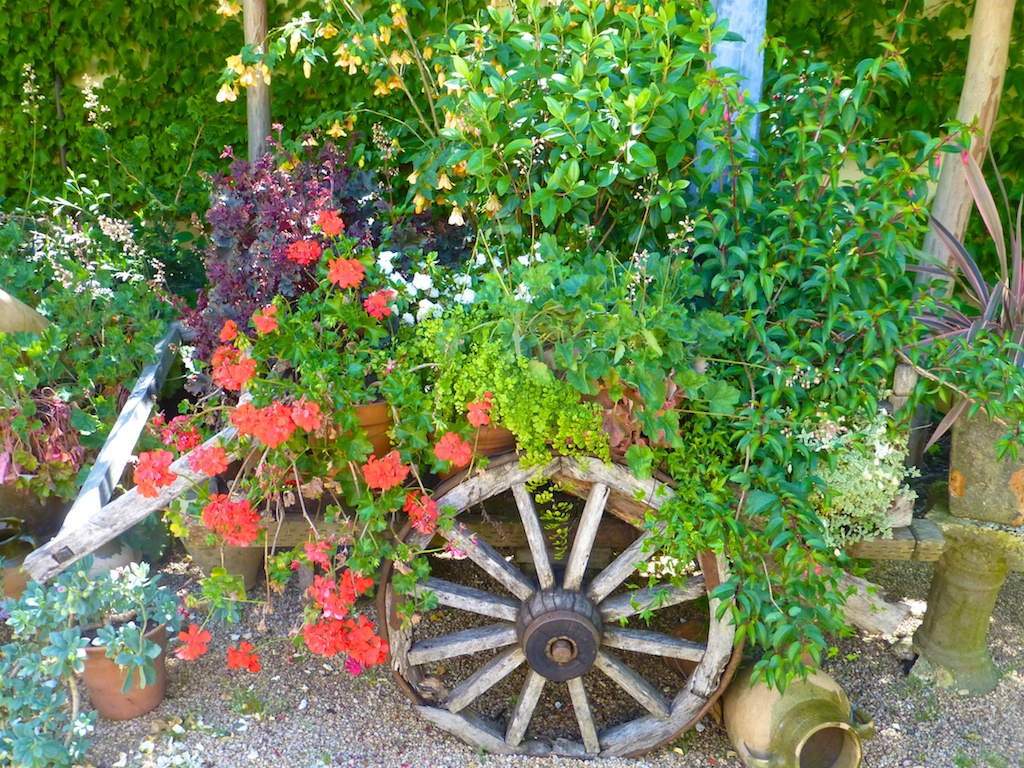 Plants in a wagon