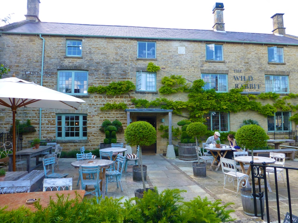 At The Wild Rabbit Inn, Kingham, the Cotswolds, England