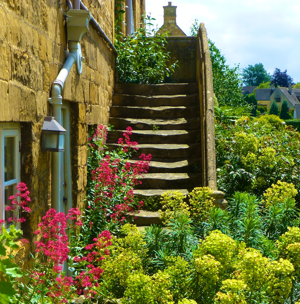 Cotswolds stone steps in Chipping Campden