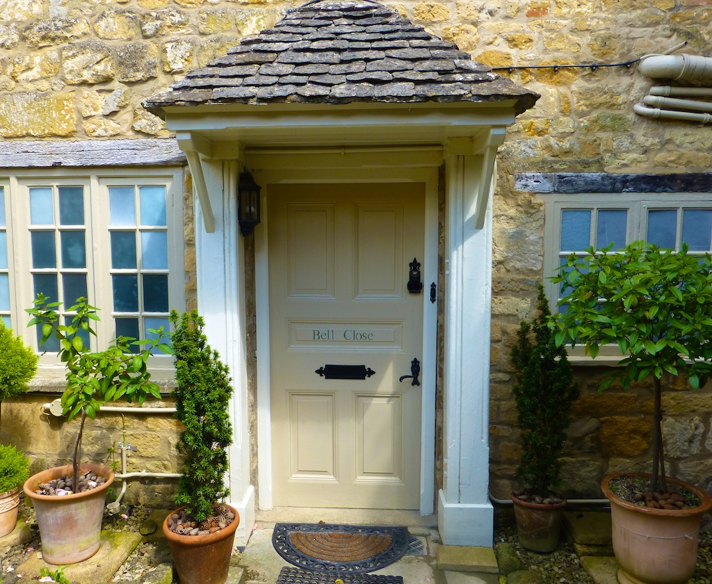 English cottage door in Broadway in the Cotswolds