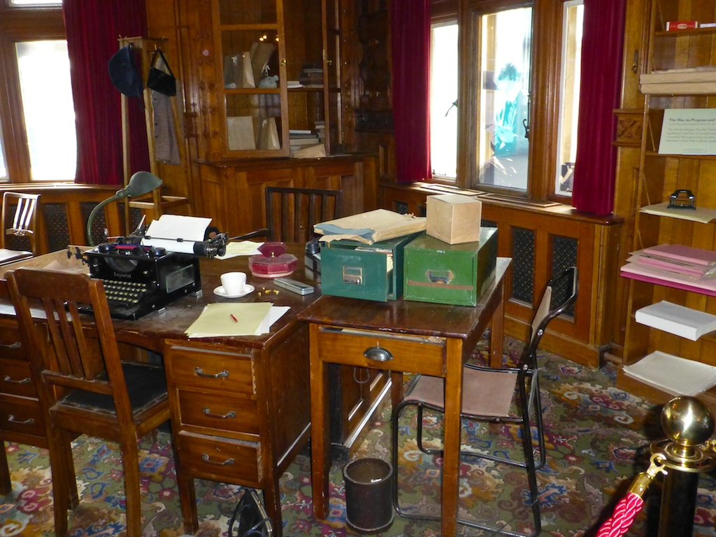 Library as a World War II command centre at Bletchley Park, England