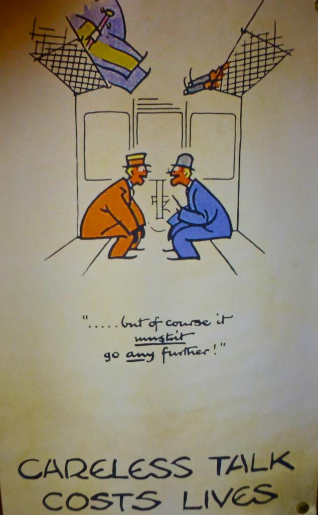 World War II Poster 'Careless talk costs lives!'