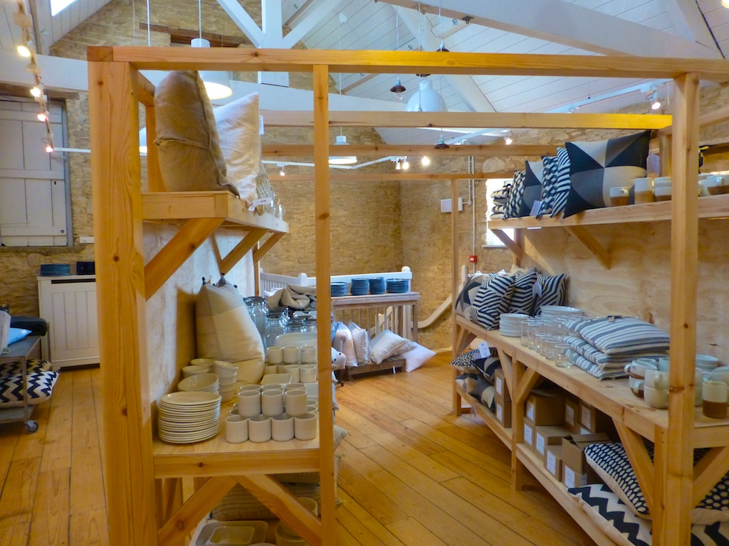 The Home shop at Daylesford Barns in the Cotswolds