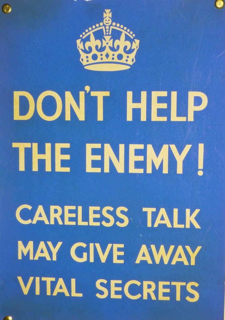 World War II Poster at Bletchley Park, England