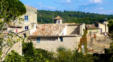Goult, roof tops of the Luberon, Provence