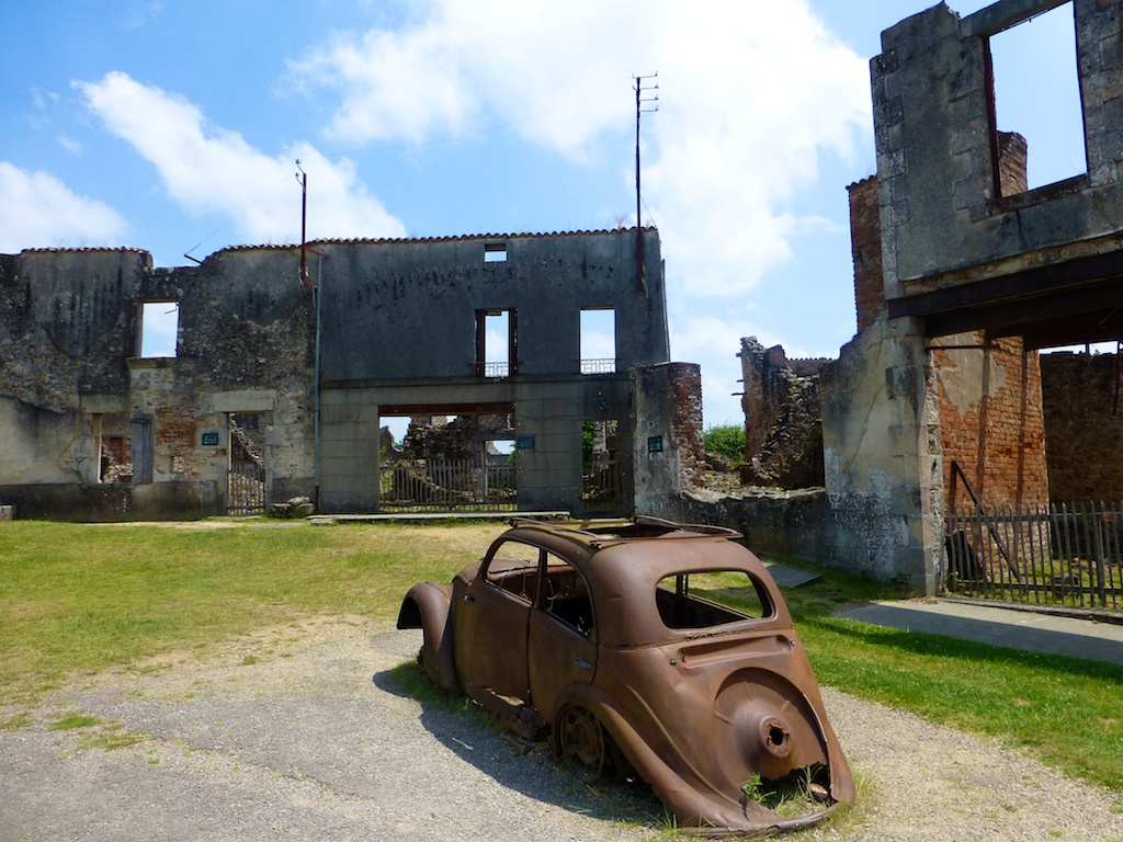 The ruins of Oradour-Sur-Glane, following the Nazi attack in 1944