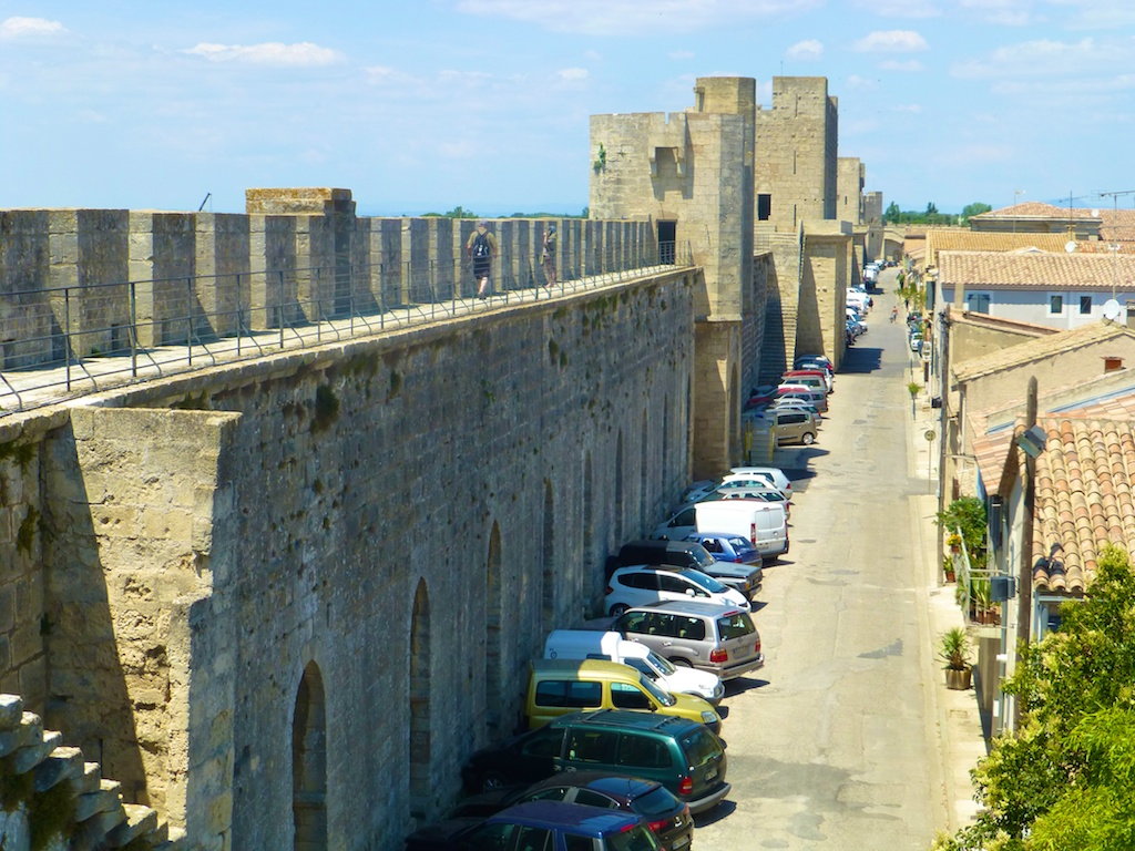 On the ramparts of Aigues-Mortes, Camargue, France