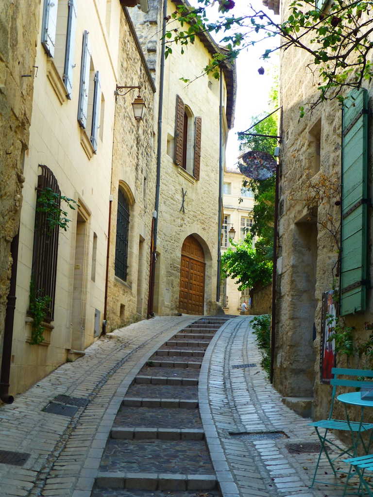 Stepped, cobbled street in Uzes