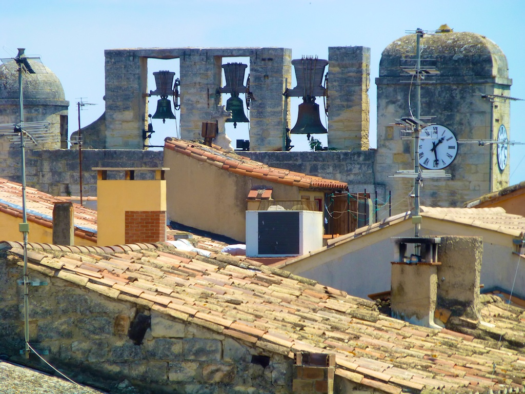 The church bells, View from the ramparts of Aigues-Mortes, Camargue, France