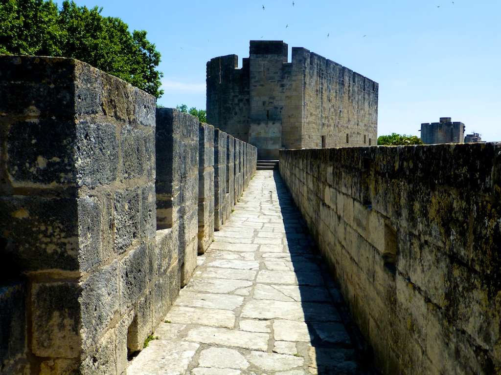 The ramparts of the walled Medieval city of Aigues-Mortes, Camargue, France
