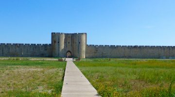 Walled Medieval city of Aigues-Mortes, France