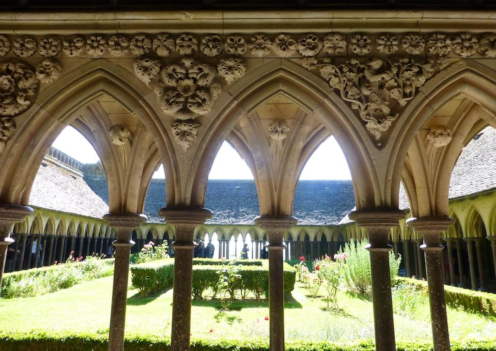 Abbey cloisters at Mont Saint-Michel