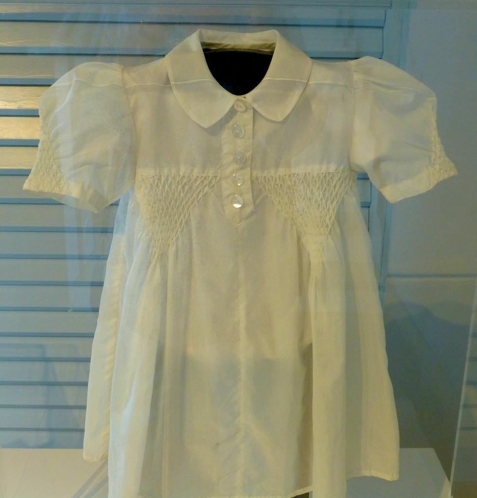 Child's dress made from an allies' parachute during World War II