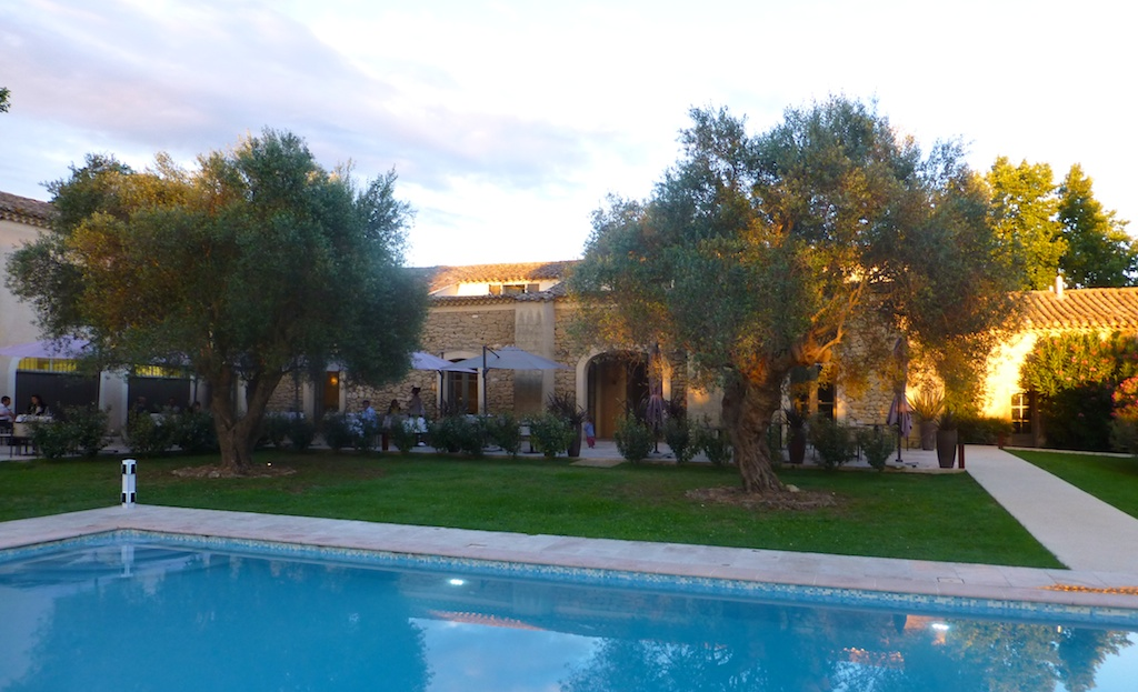 Evening at la-begude-saint-pierre hotel, Uzes, Languedoc Rousillon, France