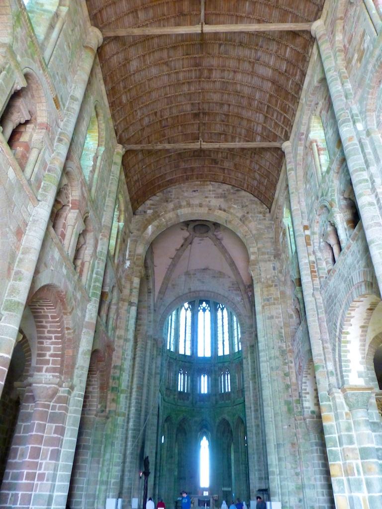 Inside the Abbey, Mont Saint Michel, France