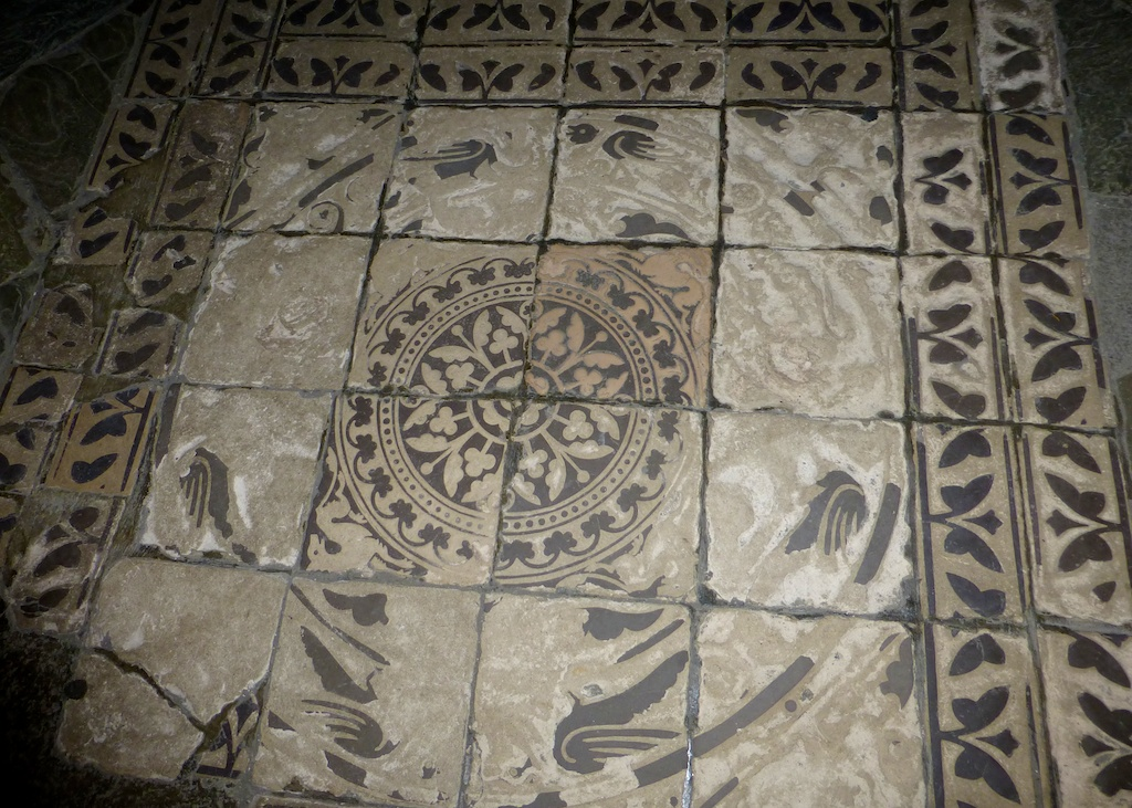 Mosaic floor in the Abbey, Mont Saint Michel, France