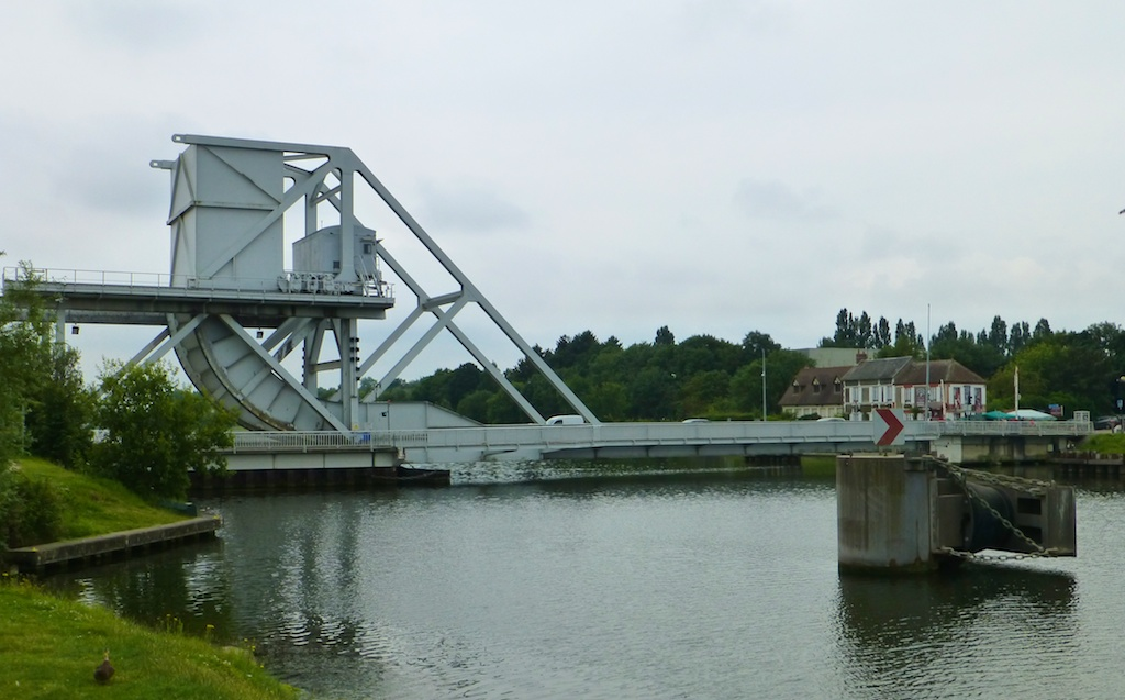 Pegasus Bridge 2014, replacing the original bridge, strategically captured by the Allies D Day June 6th 2014