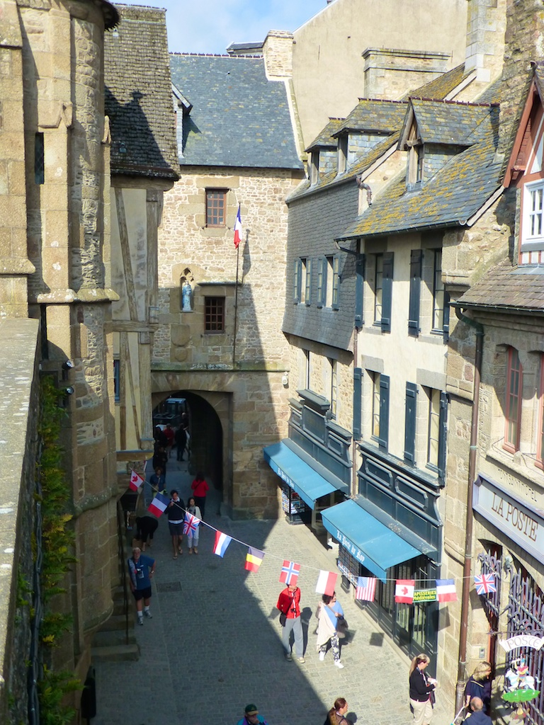 Streets of Mont Saint Michel, Normandy France