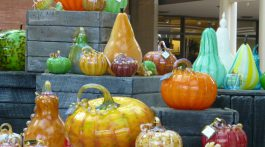 The Glass Pumpkins in Stanford Mall, California