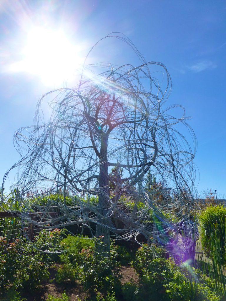 A wire tree at Cornerstone Sonoma, California, USA