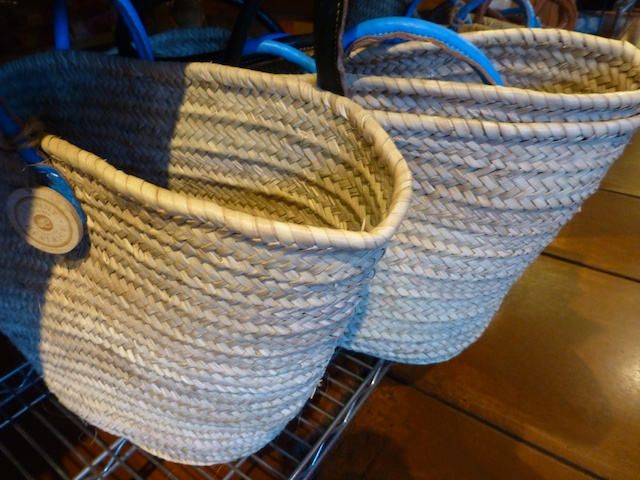 French baskets for sale in Market Hall in Rockridge, near Berkley, California!