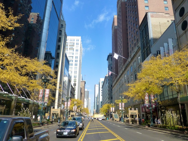 On famous Michigan Avenue, Chicago's Magnificent Mile