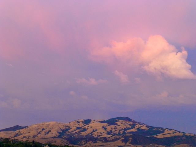 Autumnal evening sky over Mt Diablo, Danville California