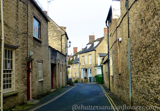 A lane in Woodstock, Oxfordshire, England