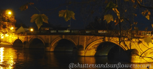 Henley Bridge at Henley-on-Thames, Oxfordshire, England at dusk