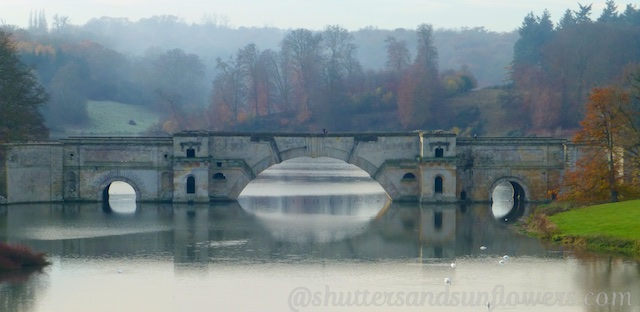 Bridge over the lake at Blenheim Palace, Woodstock, England