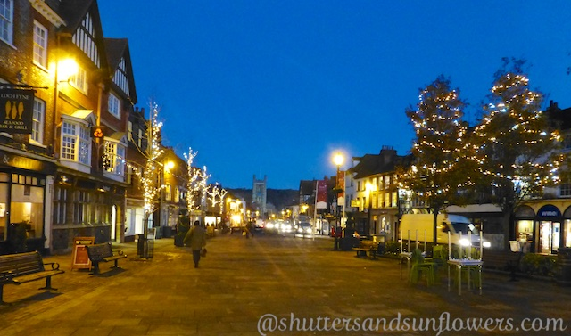 Henley-on-Thames, England, the High Street at Christmas