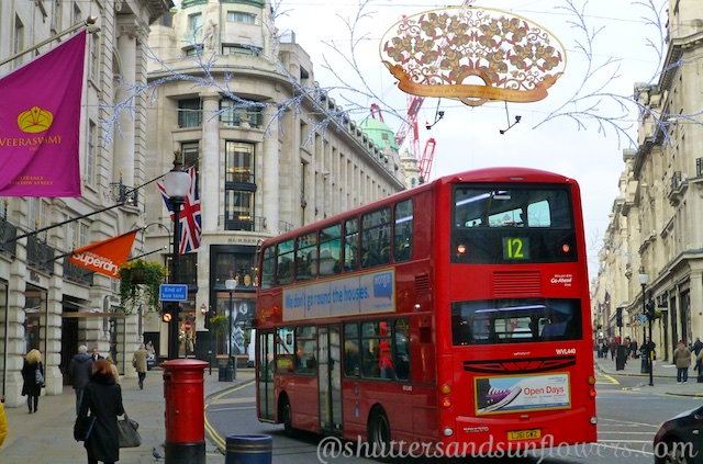 Regents Street, London England at Christmas