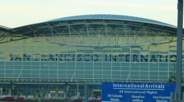San Francisco International Airport, flying home to England