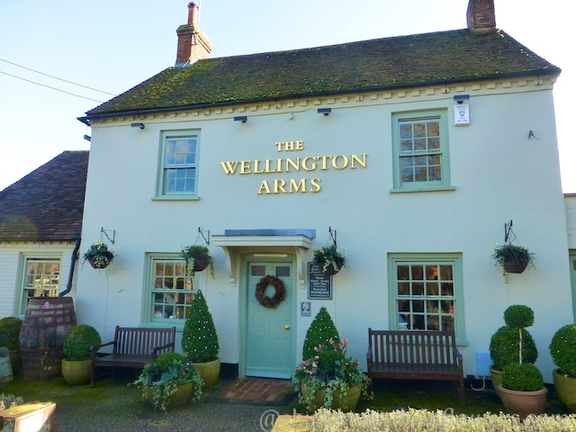 An English Pub, The Wellington Arms near Baughurst, Hampshire