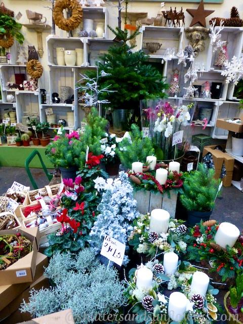 Christmas store at Borough Market, London, England