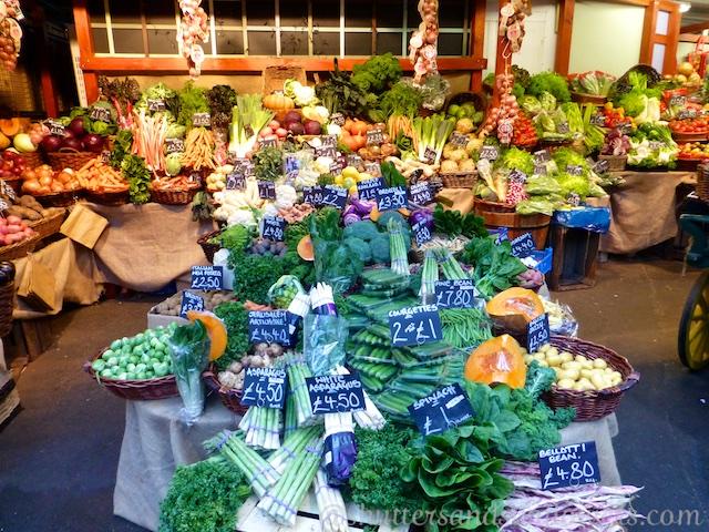 Vegetables or sale at Borough Market, London