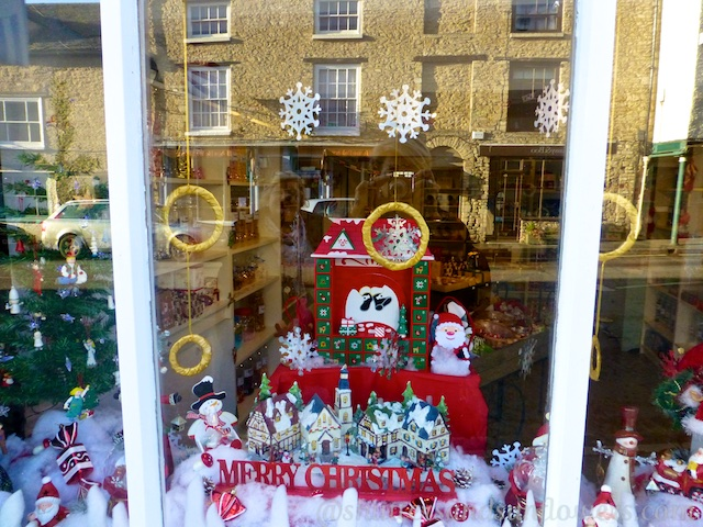 A Christmas window in Tetbury, England