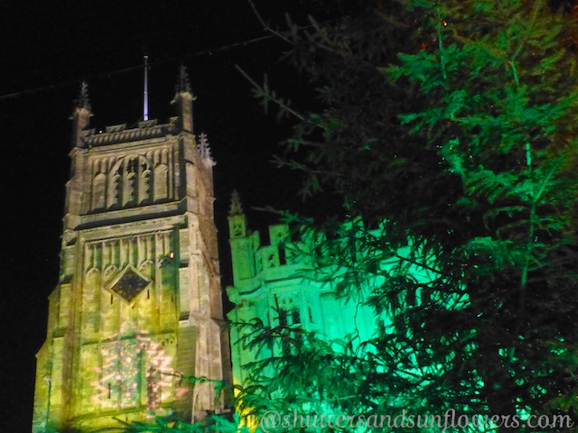Circencester Cathedral at night
