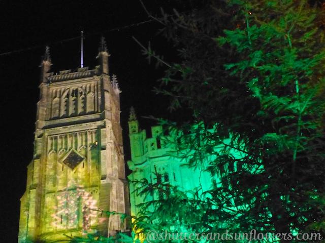 Circencester Cathedral at night
