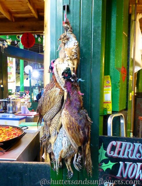 Pheasants for sale at London's Borough Market