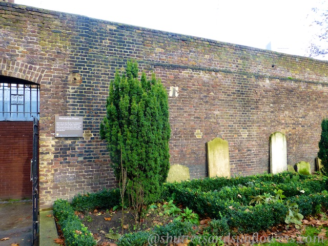 Only wall of Marshalsea Debtors Prison, Southwark, London