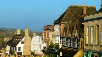 Roof tops of Burford, the Cotswolds, England