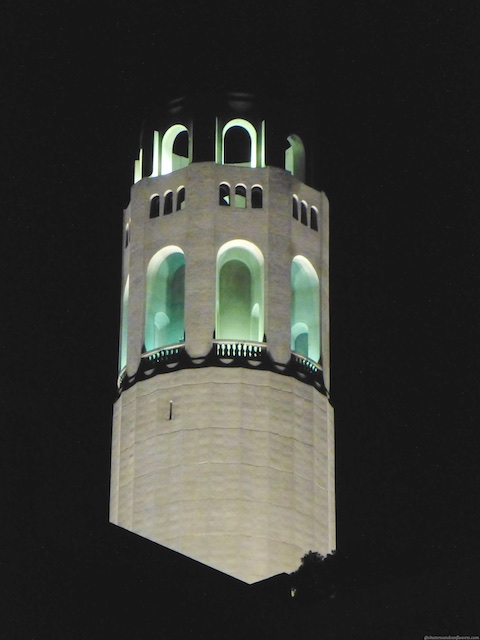 Coit Tower, San Francisco at night