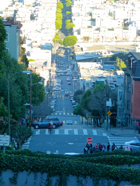 The top of Lombard Street, San Francisco