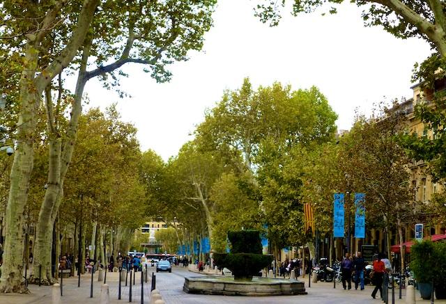 Cours de Mirabeau, Aix-en-Provence, in summer