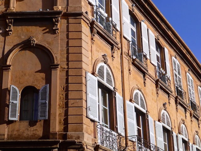 Shutters of Aix-en-Provence, Provence, France