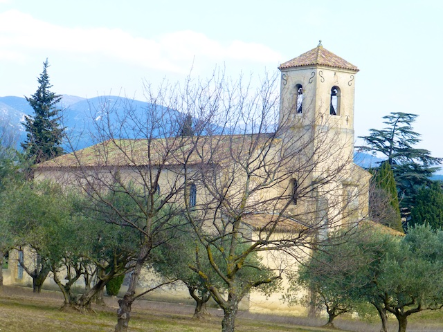The church in Februaury in Lourmarin