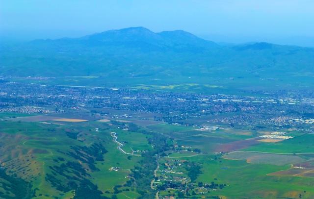 Approaching Mt Diablo, Northern California