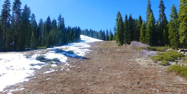 Bare slopes at Northstar, Lake Tahoe, California