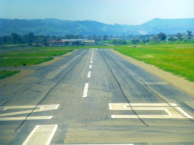 Landing at Livermore Airport, Northern California